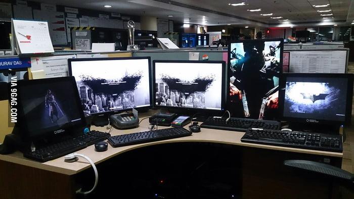 my office desk. my office desk ( i\u0026#039;m a software programmer) 😒