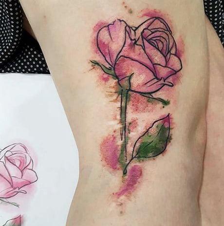 Tattoo over a birthmark