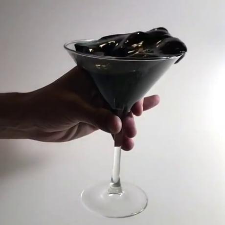 High viscosity black martini