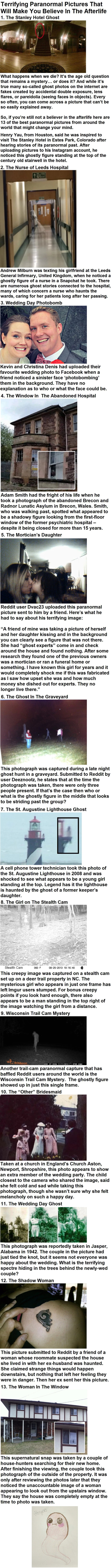 Terrifying Paranormal Pictures That Will Make You Believe In