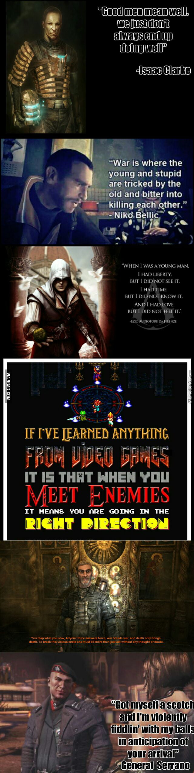 Some deep video game quotes... - 9GAG