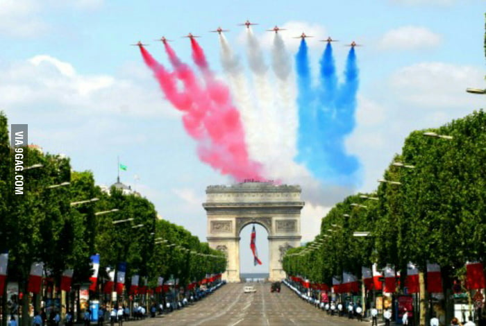 Happy Birthday France! Today Is July the 14th, It's French