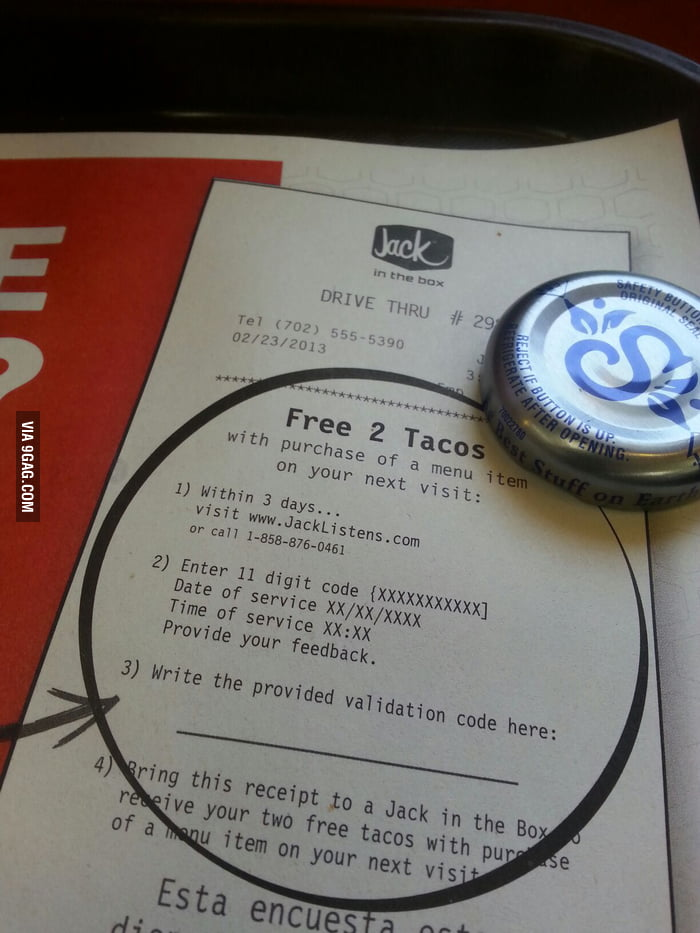 Do you mean    2 free tacos? - 9GAG