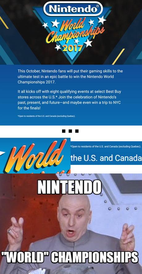 "Nintendo ""World"" Championships"