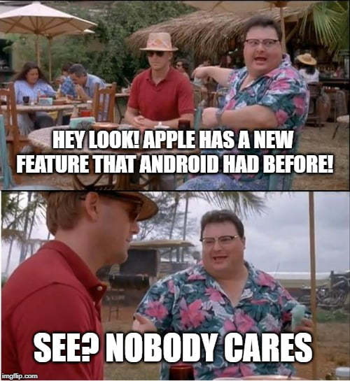 Apple vs Android in a nutshell - 9GAG