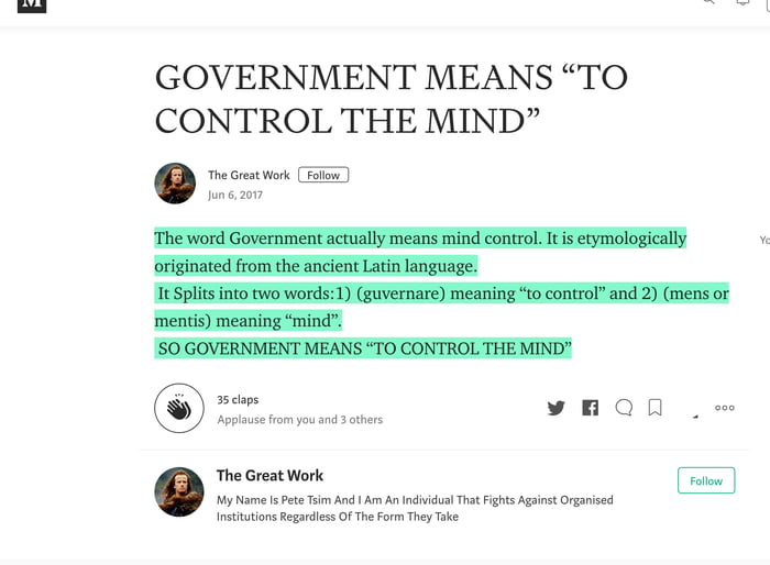 """GOVERNMENT MEANS """"TO CONTROL THE MIND"""" - 9GAG"""