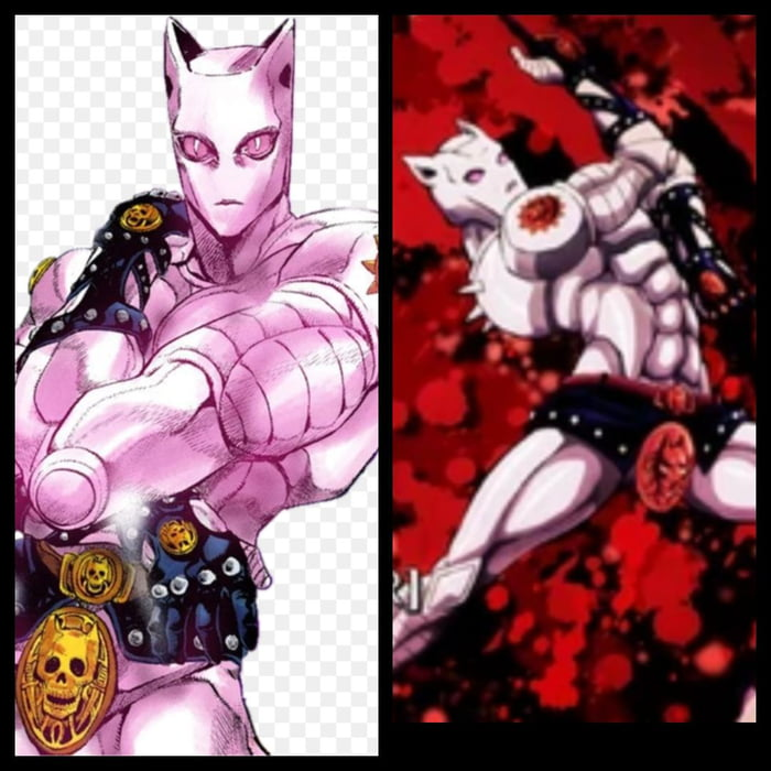 Which One Would You Prefer To Have Part 4 Killer Queen Or Part Or Part 8 Killer Queen If You Dont Read The Manga Ask For The Diffrences In The Comments If You
