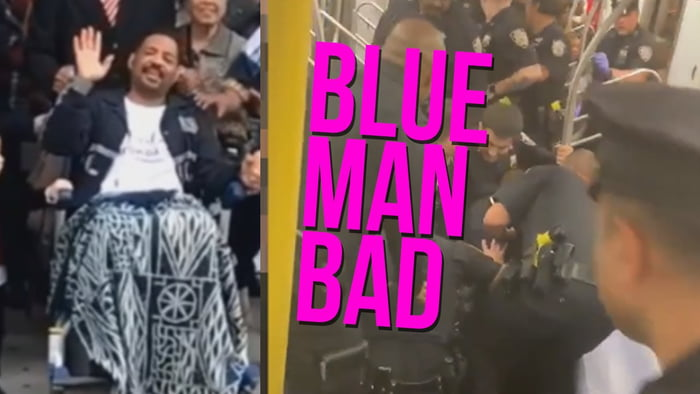 Blue man bad