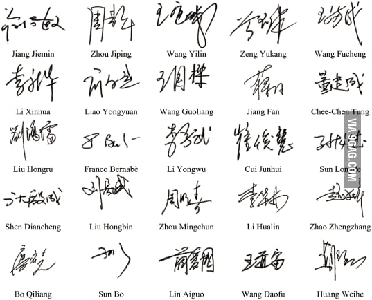 have you ever wondered what mandarin chinese signatures