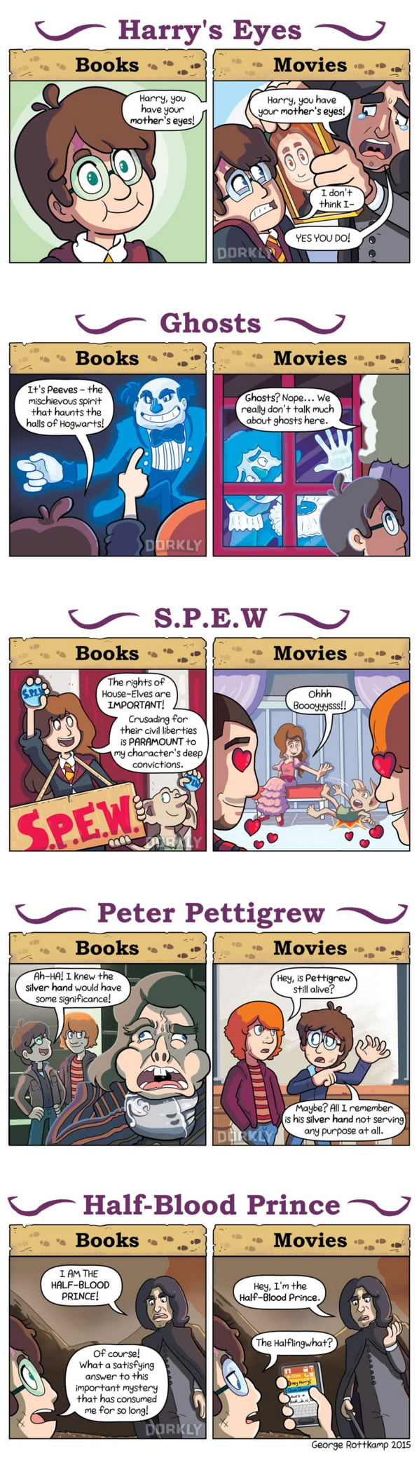 Harry Potter Book And Movie Differences ~ Harry potter books vs movies gag