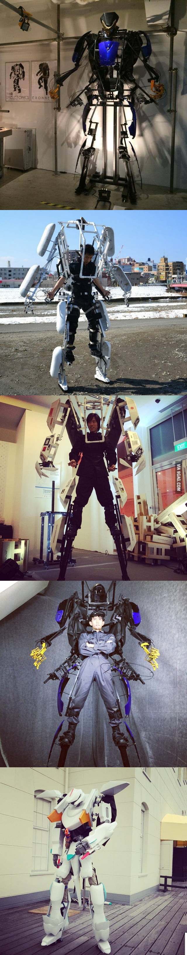 Saw this, Mechanical Suit Skeletonics, in the near future in Japan