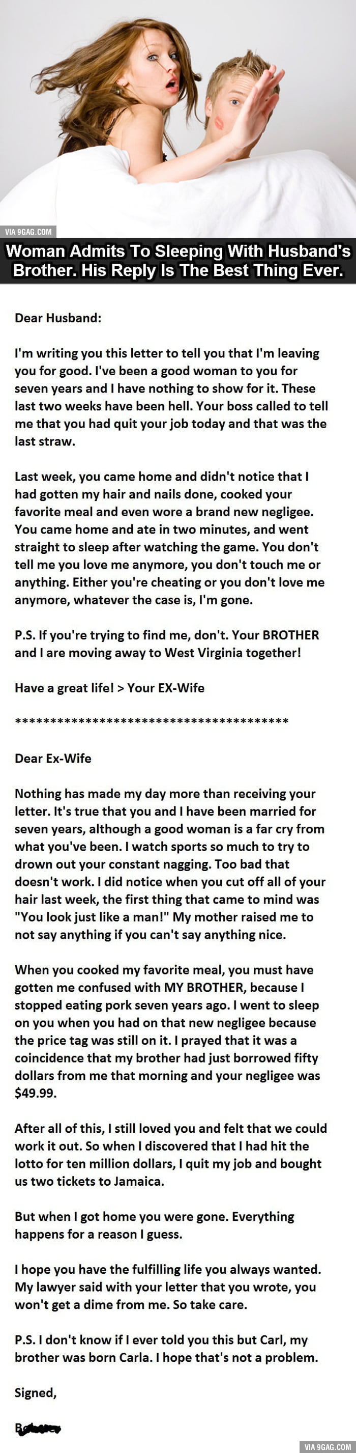 Who will be the husbands brother for his wife, as he is called