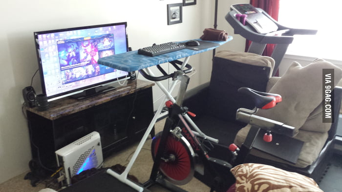 Exercising While Pc Gaming Setup Ironing Board Spin
