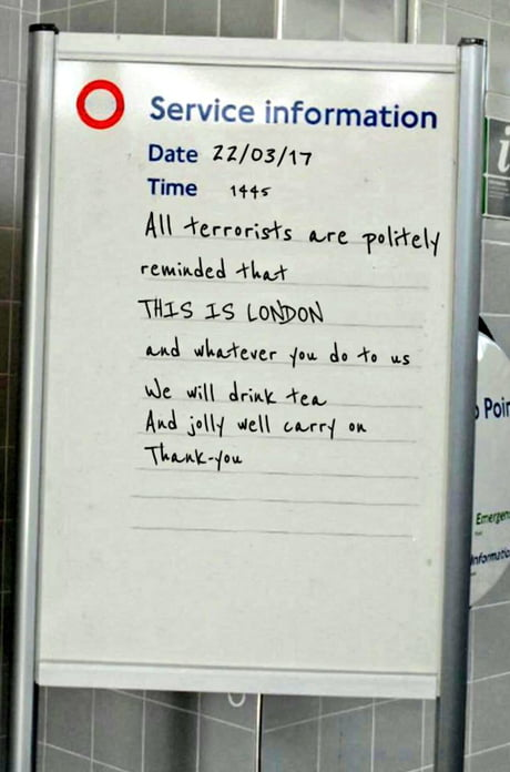 Business As Usual In London. That Is All. Carry On