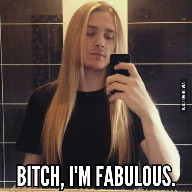 Be jealous of my friend's hair
