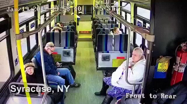 How would you react? as a pasengear on train