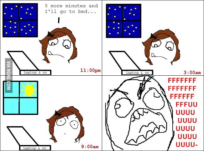 Bad sleeping habits rage