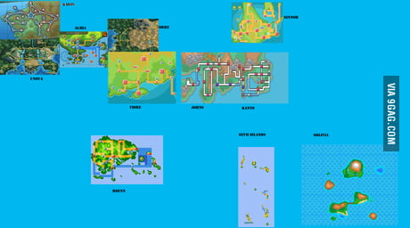 Pokémon World Map - 9GAG