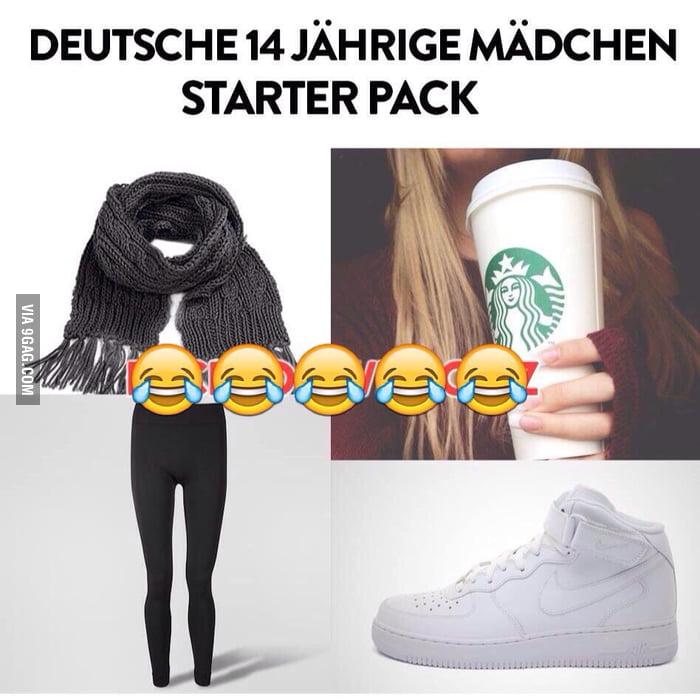 """German 14y/o girl starter pack"" - 9GAG"