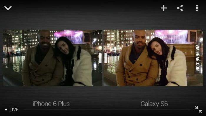 iphone se vs galaxy s6 camera