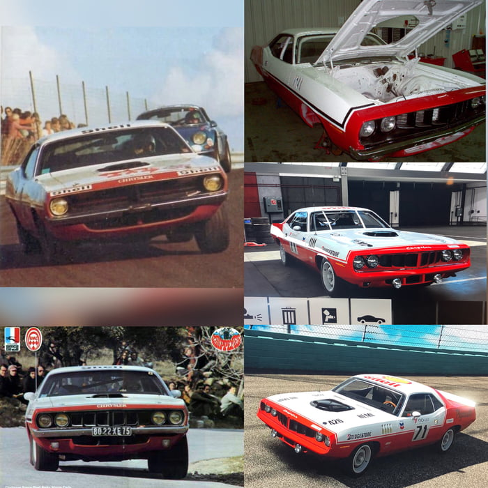 Inspired by 70-71 Cuda from Chrysler France Race Group I