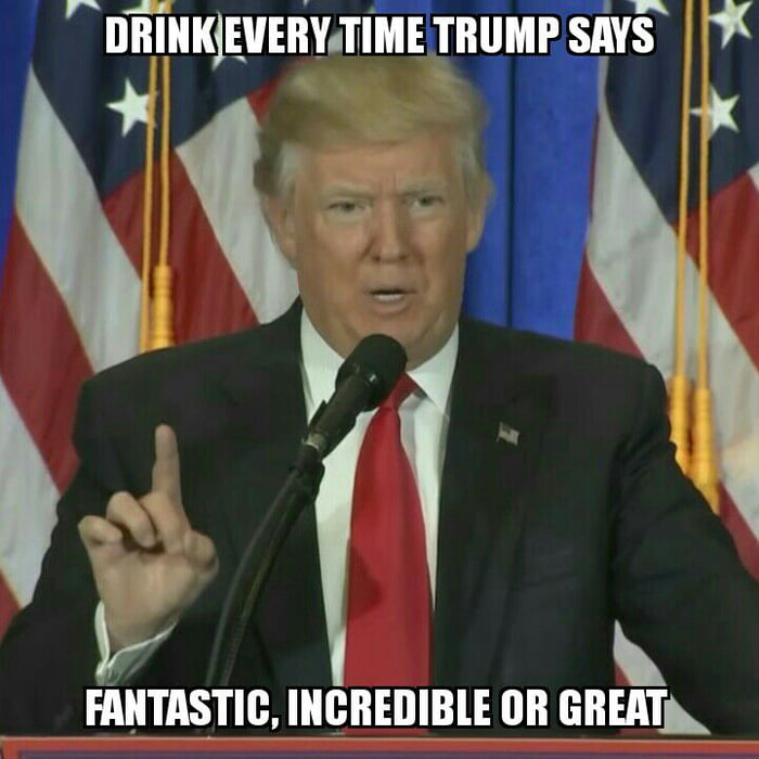 New drinking game! Try it with his recent press conference!