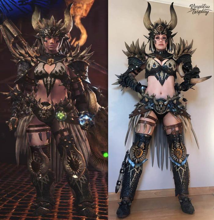 Nergigante Armor Set By Kinpatsu Cosplay Monster Hunter World 9gag