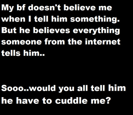 I have a favor to ask..