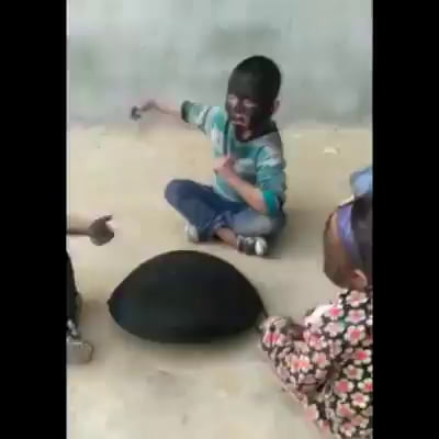 Games children play in a third world country