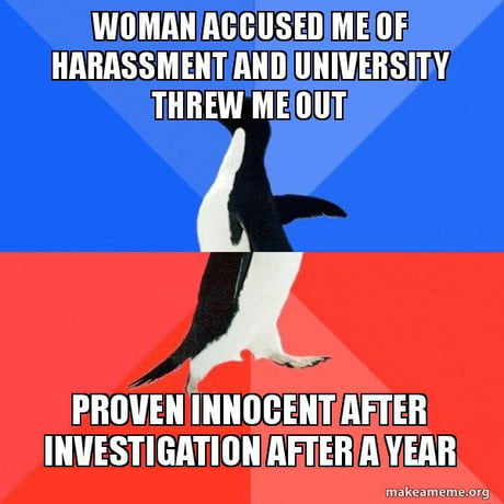 A year of humiliation, tarnished reputation, and break in my research career but no punishment for the woman