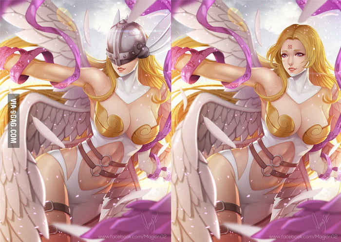 angewomon naked digimon