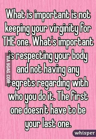 Shall how important is your virginity opinion