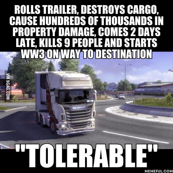 Slikovni rezultat za euro truck simulator 2 memes