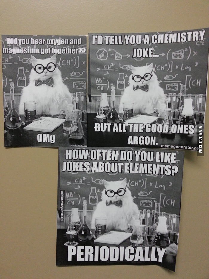 On our chemistry class door today