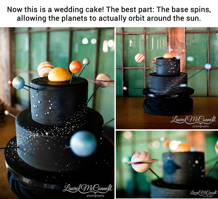 A wedding cake for astronomy lovers