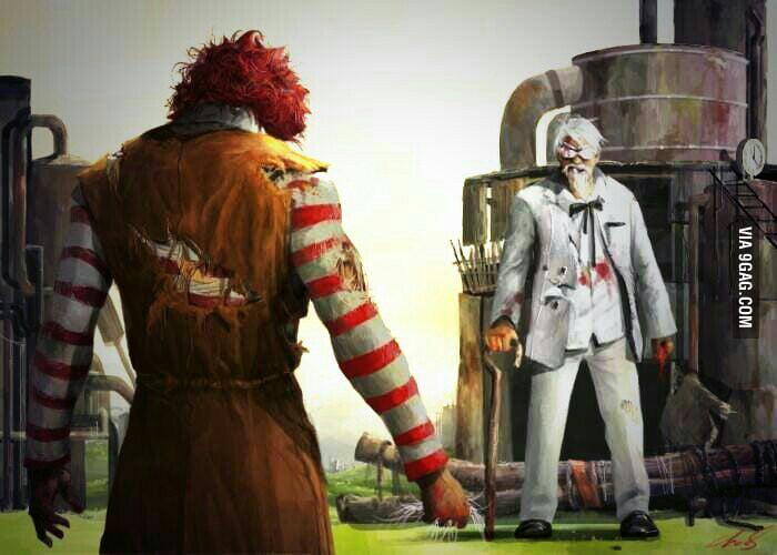 Funny Kfc People: The Ultimate Battle. KFC Vs McDonald's. Who Will Win?