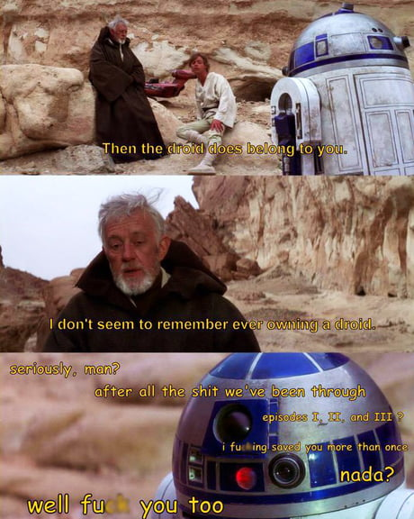R2D2 angry