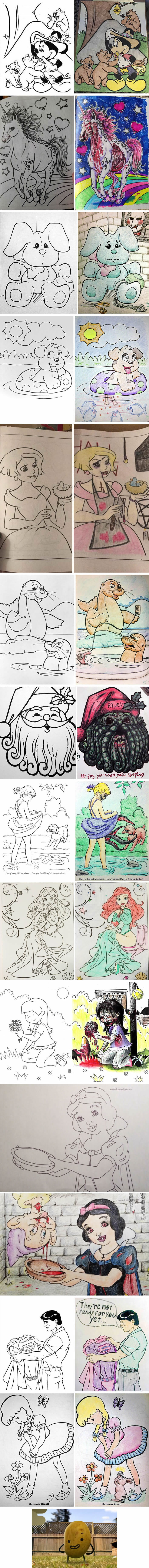 These Coloring Book Corruptions Might Destroy Your Childhood