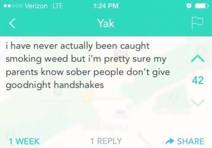 goodnight handshake
