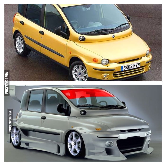fiat multipla the ugliest car of the world even worse. Black Bedroom Furniture Sets. Home Design Ideas