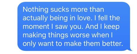 being in love sucks
