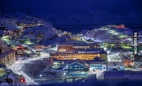 Christmas In Greenland.Another Place To Be In A Snowy Christmas Maniitsoq