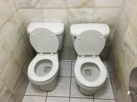 This Nyc Bathroom Stall With 2 Toilets