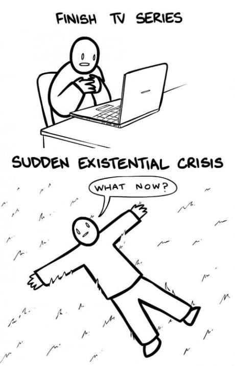 After finishing a TV series