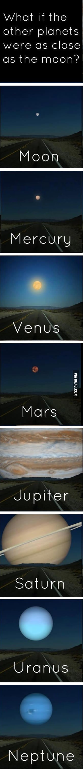 What if the other planets were as close as the moon