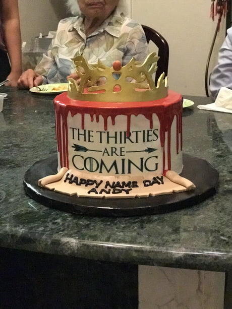 Astounding My Sister Made Me A Birthday Cake Game Of Thrones Inspired 9Gag Personalised Birthday Cards Cominlily Jamesorg