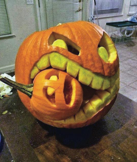 Pumpkin Eating A Pumpkin For Spooktober 9gag