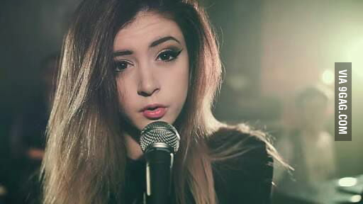 Chrissy Costanza. Against the Current vocalist.