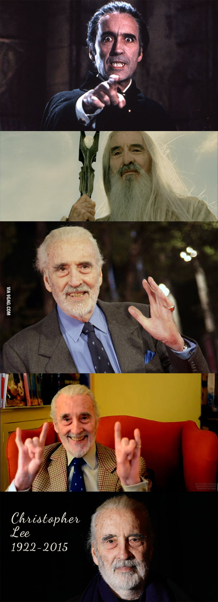 93 years of epicness. Rest in Peace. Sir Christopher Lee.