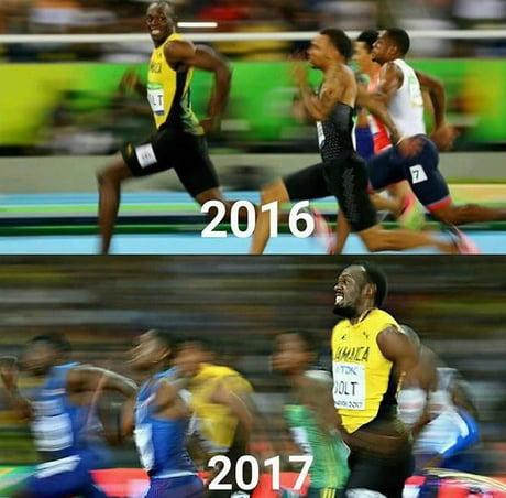 Usain Bolt 2016 vs 2017